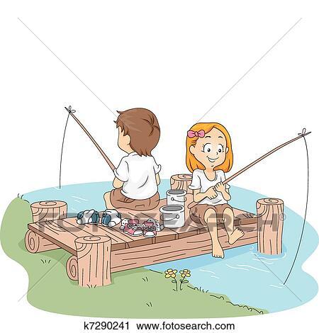 حياة الجندية صيد السمك Clipart K7290241 Fotosearch