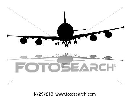 Aviao Desenho K7297213 Fotosearch