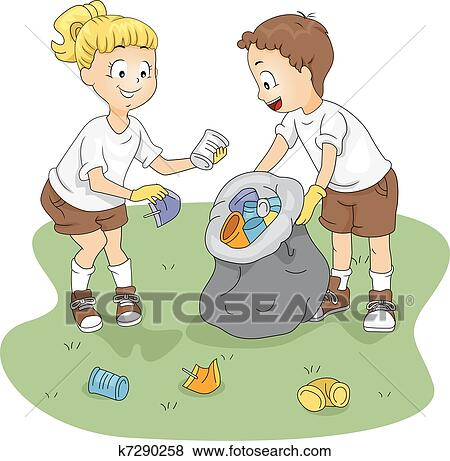 Clip Art of Camp Cleaning k7290258 - Search Clipart ...