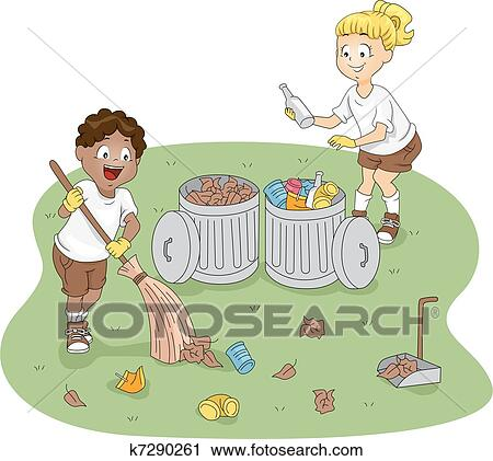 Camp Cleaning Clipart K7290261 Fotosearch