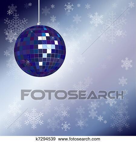 Clip Art - Christmas disco ball. Fotosearch