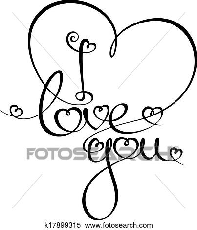 Clipart Of I Love You K17899315