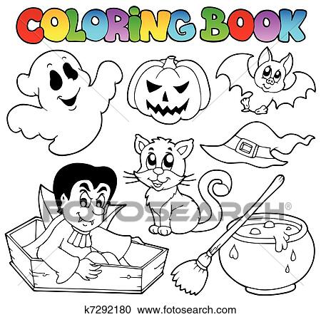 Livre Coloration Halloween Dessins Animes 1 Clipart