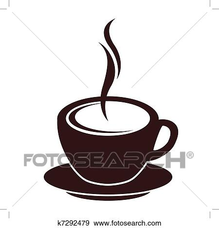 clip art of silhouette of coffee cup with steam on white k7292479 rh fotosearch com steam ship clipart steam clipart gif