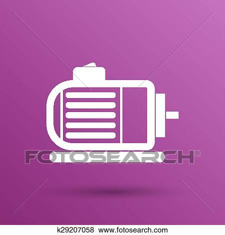 Clip Art - elektromotor, symbol, vektor, motor, symbol, macht ...