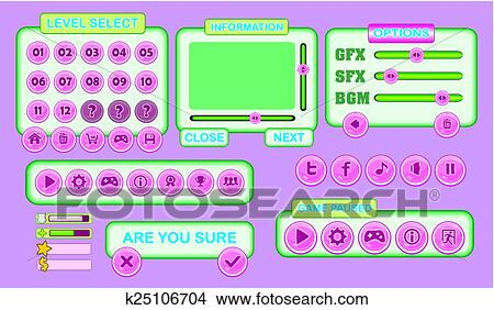 Game gui pack 01 Clipart