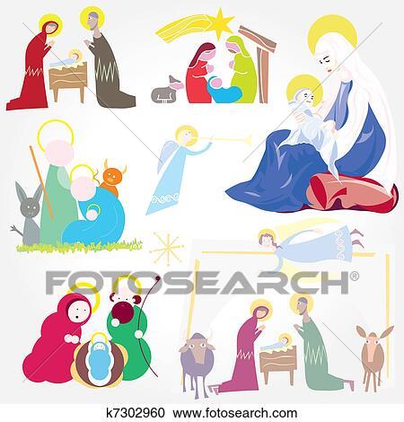 Christmas Christian Clipart.Illustration Christmas Christ Clipart