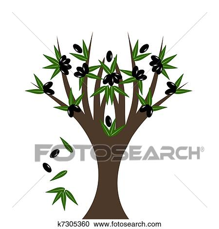 Olive Tree Clipart K7305360 Fotosearch