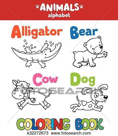 Tiere Alphabet Oder Abc Ausmalbilder Clipart K32272673