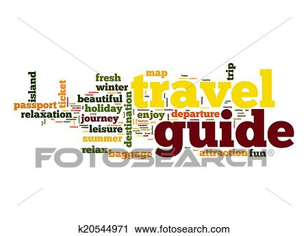 Clipart Of Travel Guide Word Cloud K20544971