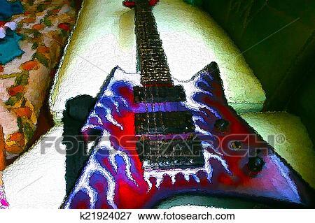 Foto violão elétrico criativo quadro estilo k21924027 busca