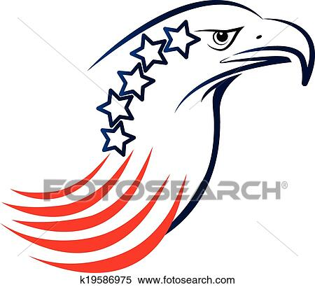 clipart of american eagle logo k19586975 search clip art rh fotosearch com Bald Eagle Clip Art American Eagle Logo Graphics