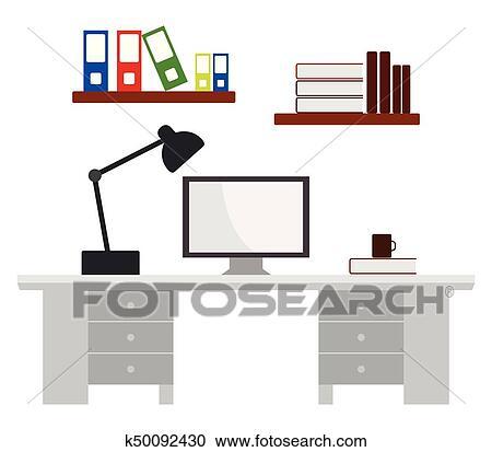 Bürotisch clipart  Bürotisch Clipart