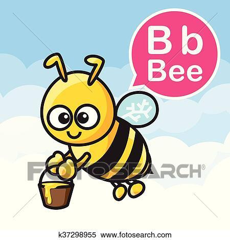 Clipart B Ape Cartone Animato Colorare E Alfabeto Per