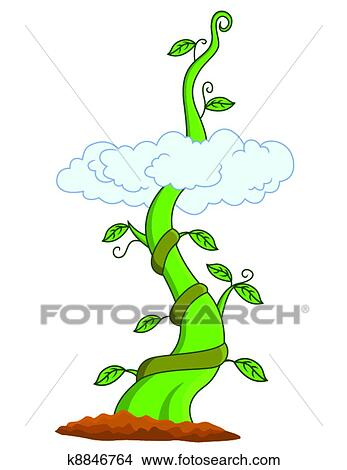 clipart of beanstalk k8846764 search clip art illustration murals rh fotosearch com beanstalk leaf clipart Magic Beans Clip Art