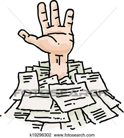 clipart of buried in paperwork k19296302 search clip art rh fotosearch com paperwork clip art coloring paperwork clip art coloring