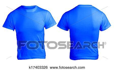 Homens Em Branco Camisa Azul Modelo Arquivo Fotográficos