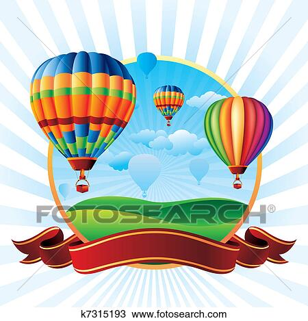 Hot Air Balloons Clipart K7315193 Fotosearch