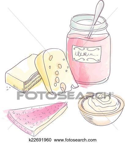Clipart Käse Kuchen K22691960 Suche Clip Art Illustration