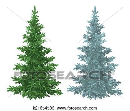 Natale Verde Blu Abete Rosso Alberi Abete Disegno K21654583