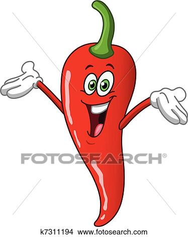 Clipart poivre piment dessin anim k7311194 - Dessin piment ...