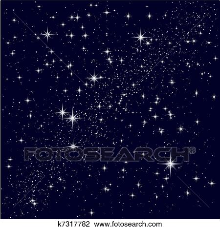 Clipart Vettore Illustrazione Di Uno Cielo Stellato K7317782