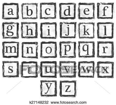 The Collection Of Rubber Stamp Characters Can Easy To Combine Letter For Various Combination Word