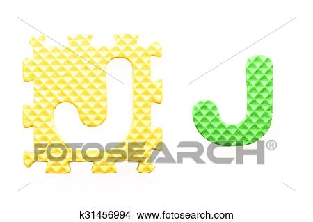 Drawings Of Colored Letters J Alphabet For Children K31456994