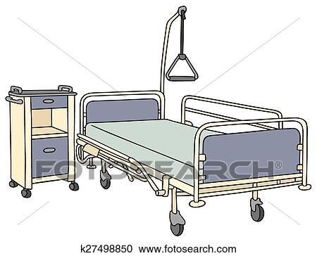 Incroyable Clipart   Hospital Bed. Fotosearch