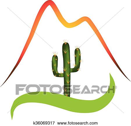 clip art of logo mountains and desert k36069317 search clipart rh fotosearch com dessert clip art pictures desert clipart black and white