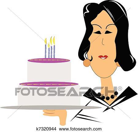 Rijp Vrouw Het Dit Wensen Gelukkige Verjaardag Clipart