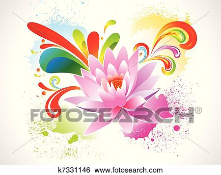 Abstract Colorful Lotus Flower Clip Art K7331146 Fotosearch