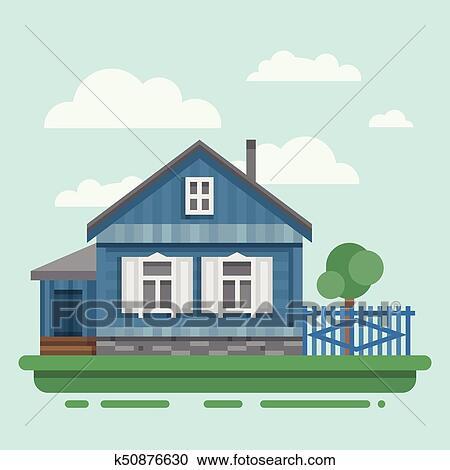 Clipart Alt Russische Landhaus K50876630 Suche Clip Art