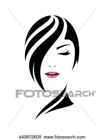 Bonito Rosto Mulher Cuidado Conceito Desenho Arquivos De