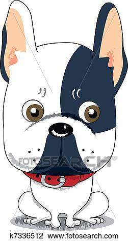 Cute French Bulldog Clipart K7336512