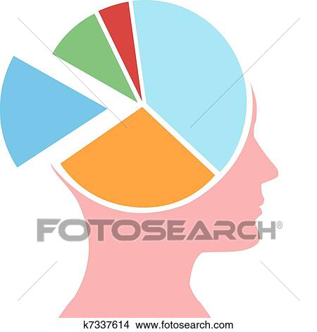 clipart of mind share person head for business chart k7337614 rh fotosearch com share clipart star black and white clipart