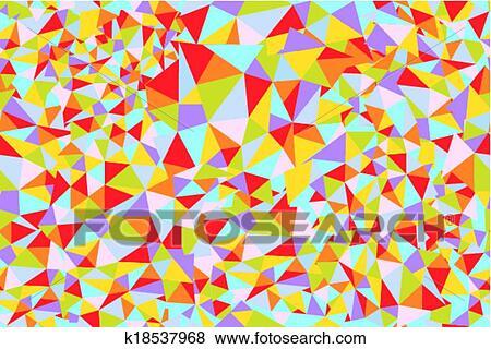 clipart mosaico triangulo seamless padrão luminoso desenho