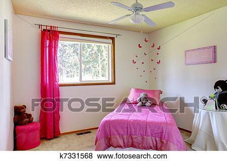 Camera Letto Rosa : Immagini rosa e bianco ragazze camera letto con orsi