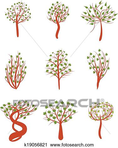 Spring Tree Clipart K19056821 Fotosearch
