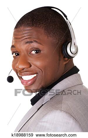 Support Phone Operator In Headset Stock Photo K18988159 Fotosearch