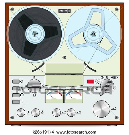 Tape recorder Clipart | k26519174 | Fotosearch
