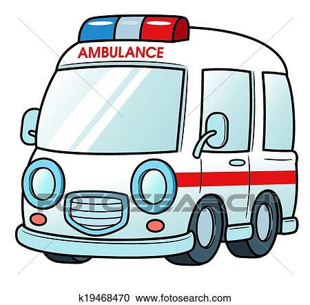 سيارة إسعاف Clipart K19468470 Fotosearch