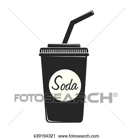 ソーダ プラスチックのカップ アイコン ベクトル イラスト クリップ