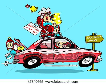 Stock Illustration of Car boot sale k7340665 - Search Clipart ...