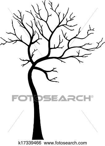 Clip art dekorativ baum ohne bl tter k17339466 - Dessin arbre nu ...