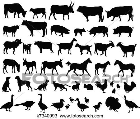 Clipart Of Farm Animals K7340993