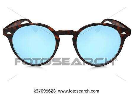 Dessin De Lunettes dessin - lunettes soleil, isolé, blanc, fond k37095623 - recherchez