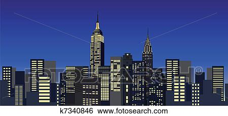 Clip art new york grattacieli k7340846 cerca clipart for Disegni new york