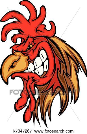clip art of rooster or gamecock mascot cartoon k7347267 search