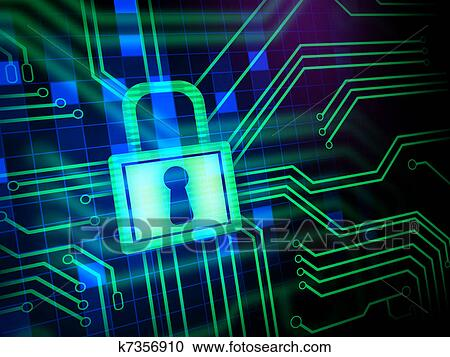 stock illustrations of cyber security k7356910 search clipart